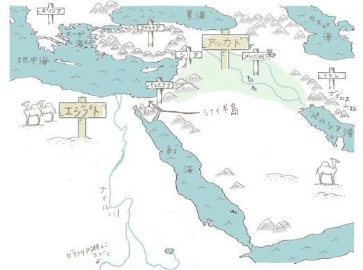 古代エジプト周辺地図