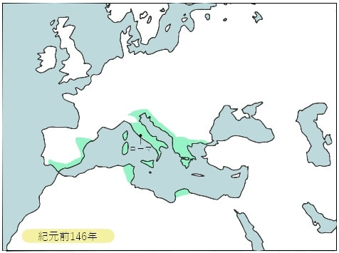 前146年、ローマ変遷図