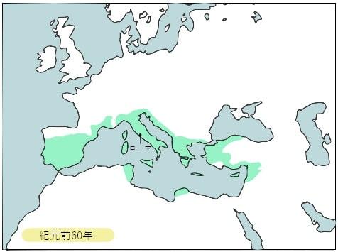 前60年、ローマ変遷図